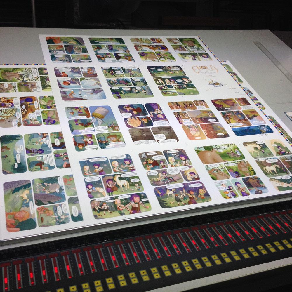Coulisse Enola 3 les planches de bandes dessinées Editions de la Gouttière