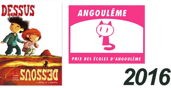 Dessus Dessous sélectionné pour le Prix des Écoles d'Angoulême 2016 !!!