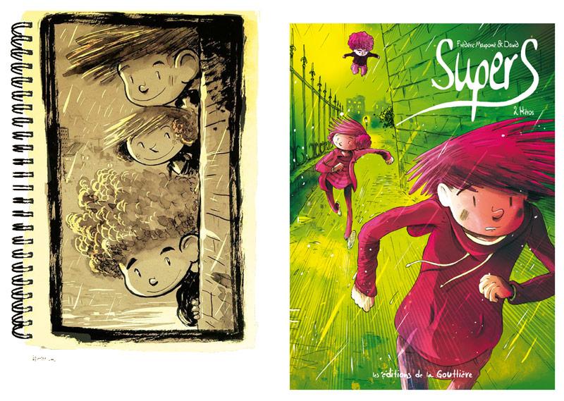 Supers tome 2 Héros Frédéric Maupomé et Dawid éditions de la Gouttière