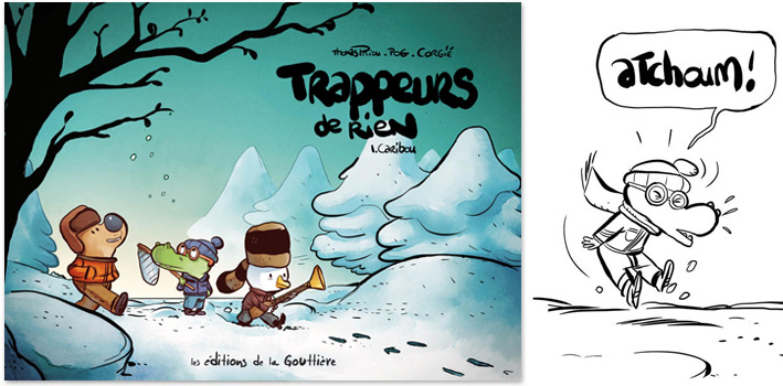 Trappeurs de rien t.1, Caribou, Olivier Pog et Thomas Priou, éd. de la Gouttière