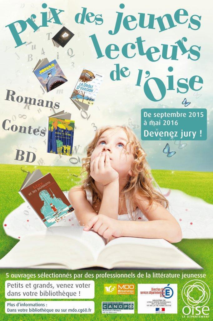 Prix des jeunes lecteurs de l'Oise 2015-2016
