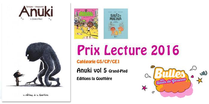 Anuki, prix Lecture 2016, festival des Hauts de Garonne