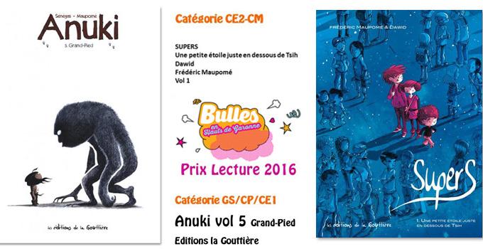 Deux prix pour le même prix : Anuki et Supers, stars des Hauts de Garonne