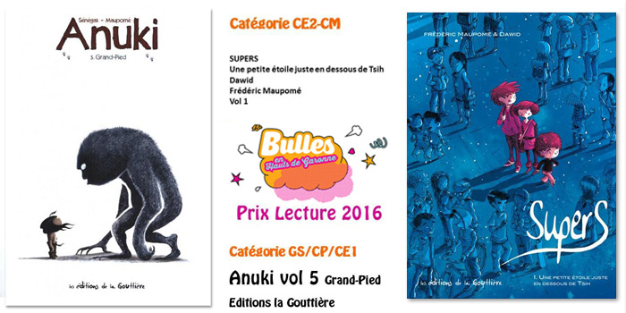 Prix pour Anuki et Supers au salon Bulles en Hauts de Garonne