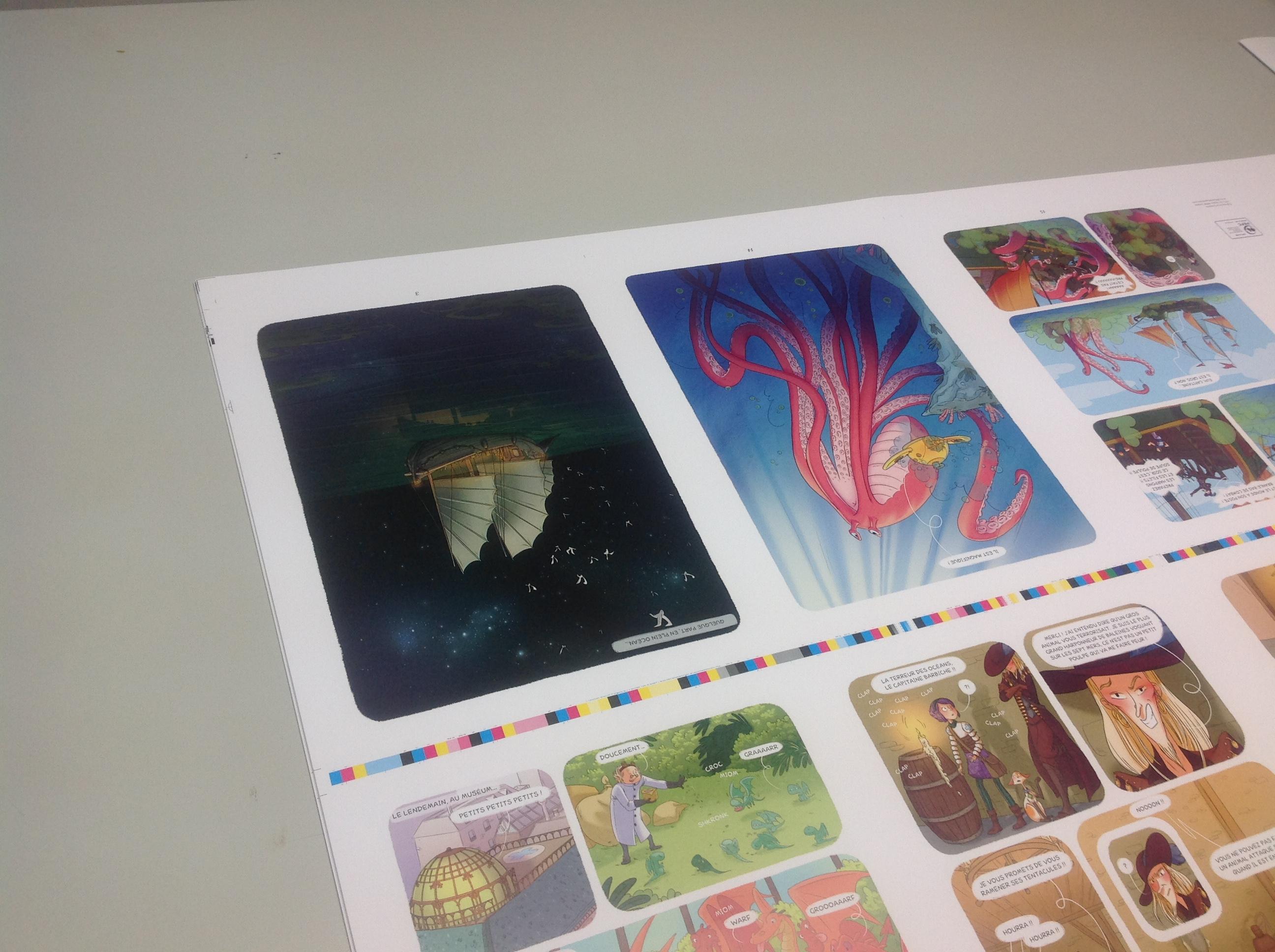 Coulisse Enola 3 les planches de bandes dessinées Editions de la Gouttière-