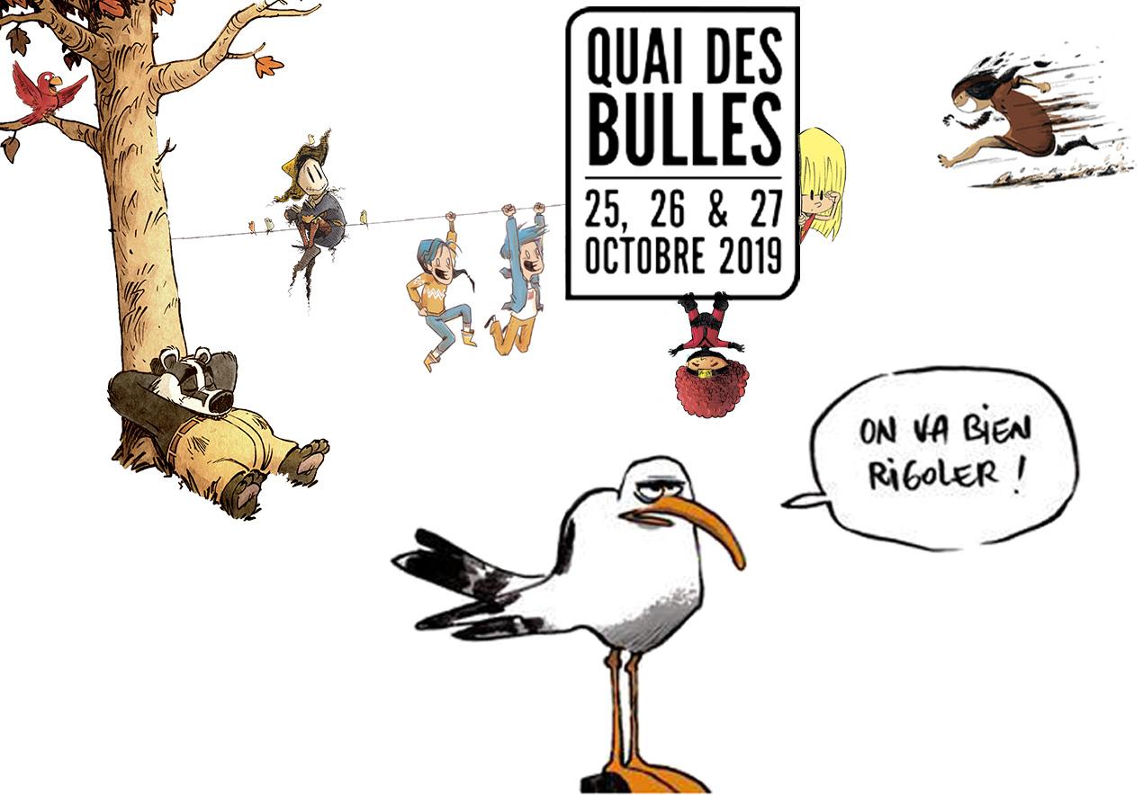 L'équipe et les auteur des Éditions de la Gouttière à Saint-Malo pour Quai des Bulles du 25 au 27 octobre 2019 !