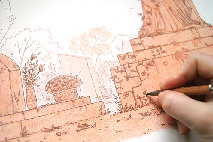 Crayonné de couverture T1 Les Croques