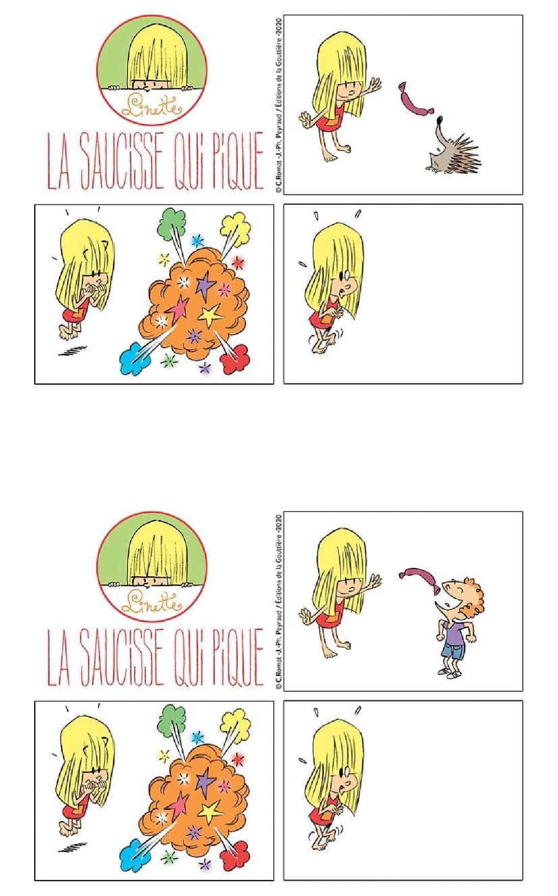 Jeu Linette saucisse dessin 2