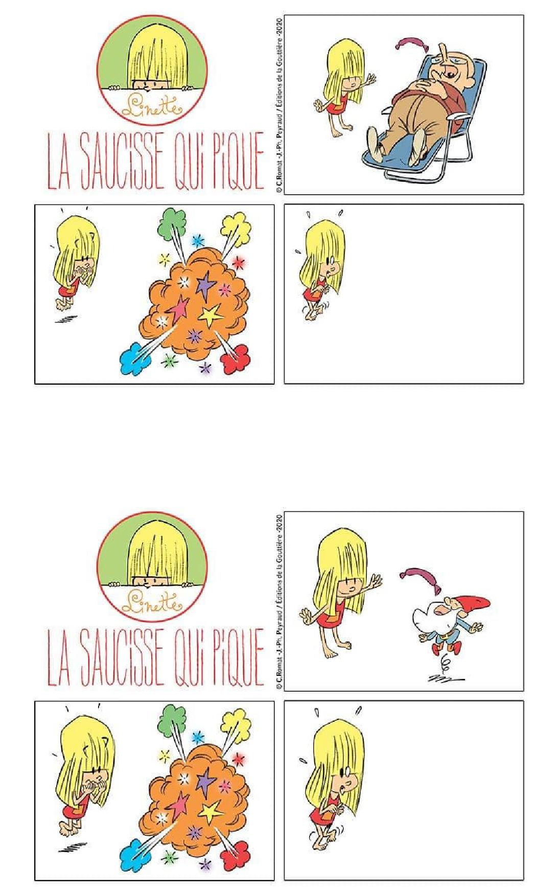 Jeu Linette saucisse dessin 3