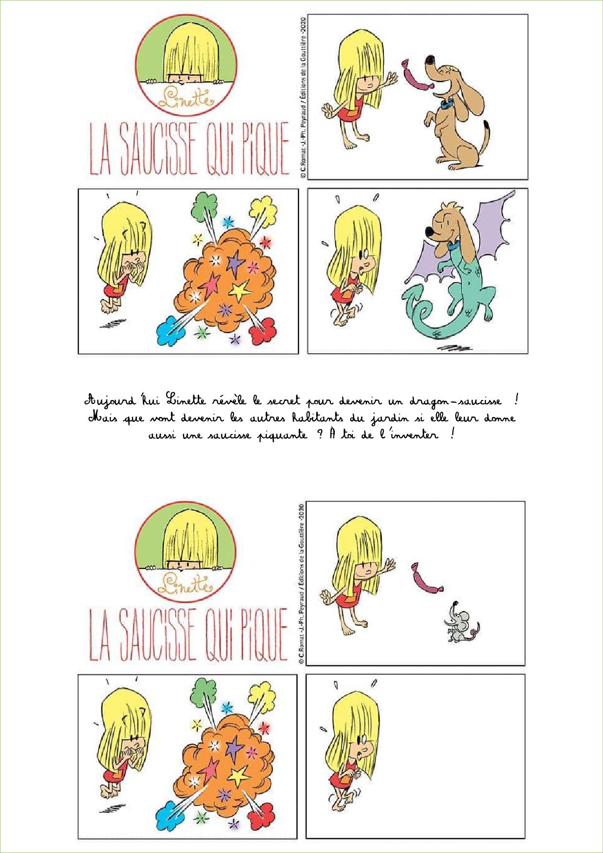 Jeu Linette saucisse dessin