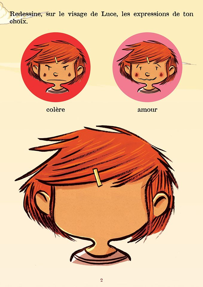Jeu Luce dessin visage 2